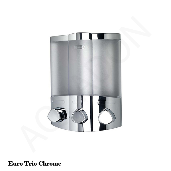 Soap Dispensers Chrome White Bathroom Cloakroom Shower