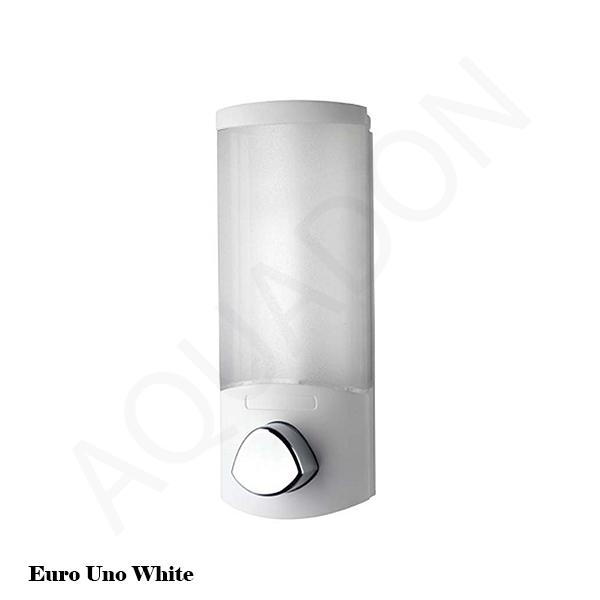 Soap Dispensers Chrome White Bathroom Cloakroom Shower