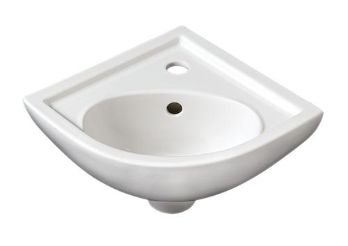 Compact Corner Basin : Details about Rak Compact White Ceramic Corner Cloakroom Basin