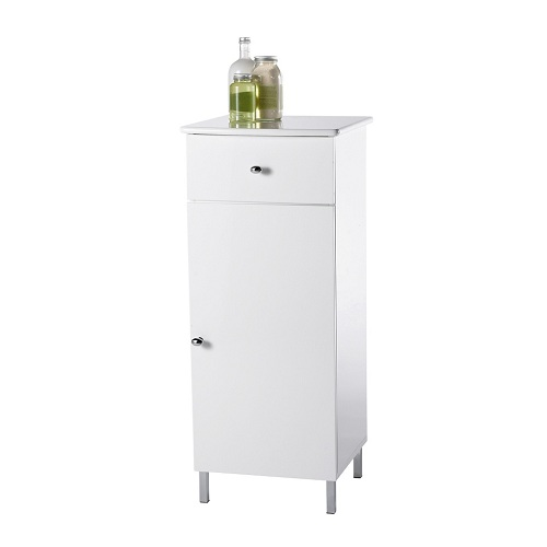 Showerdrape Capri White Wood Bathroom Floor Cabinet