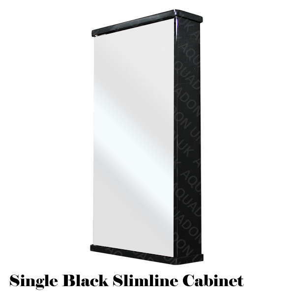 details about bathroom wall mirror storage cabinet slimline gloss