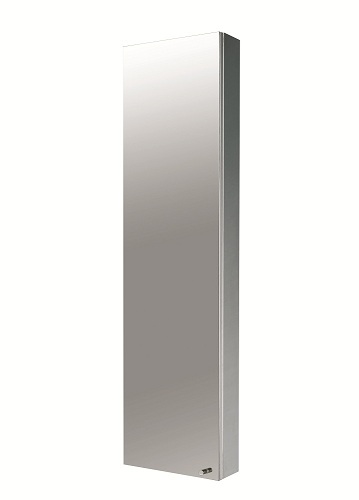 Showerdrape palermo stainless steel tall mirror cabinet ebay for Tall stainless steel bathroom cabinet