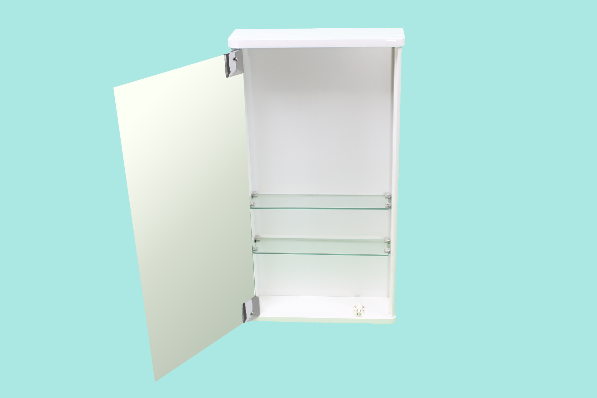 bathroom wall mirror storage cabinet slimline gloss white cloakroom