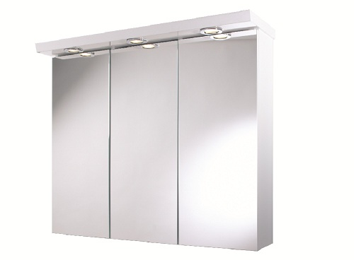 Illuminated Mirrored Bathroom Cabinet Ip44 Rated: Croydex Alaska Illuminated Triple Mirrored Wall Cabinet