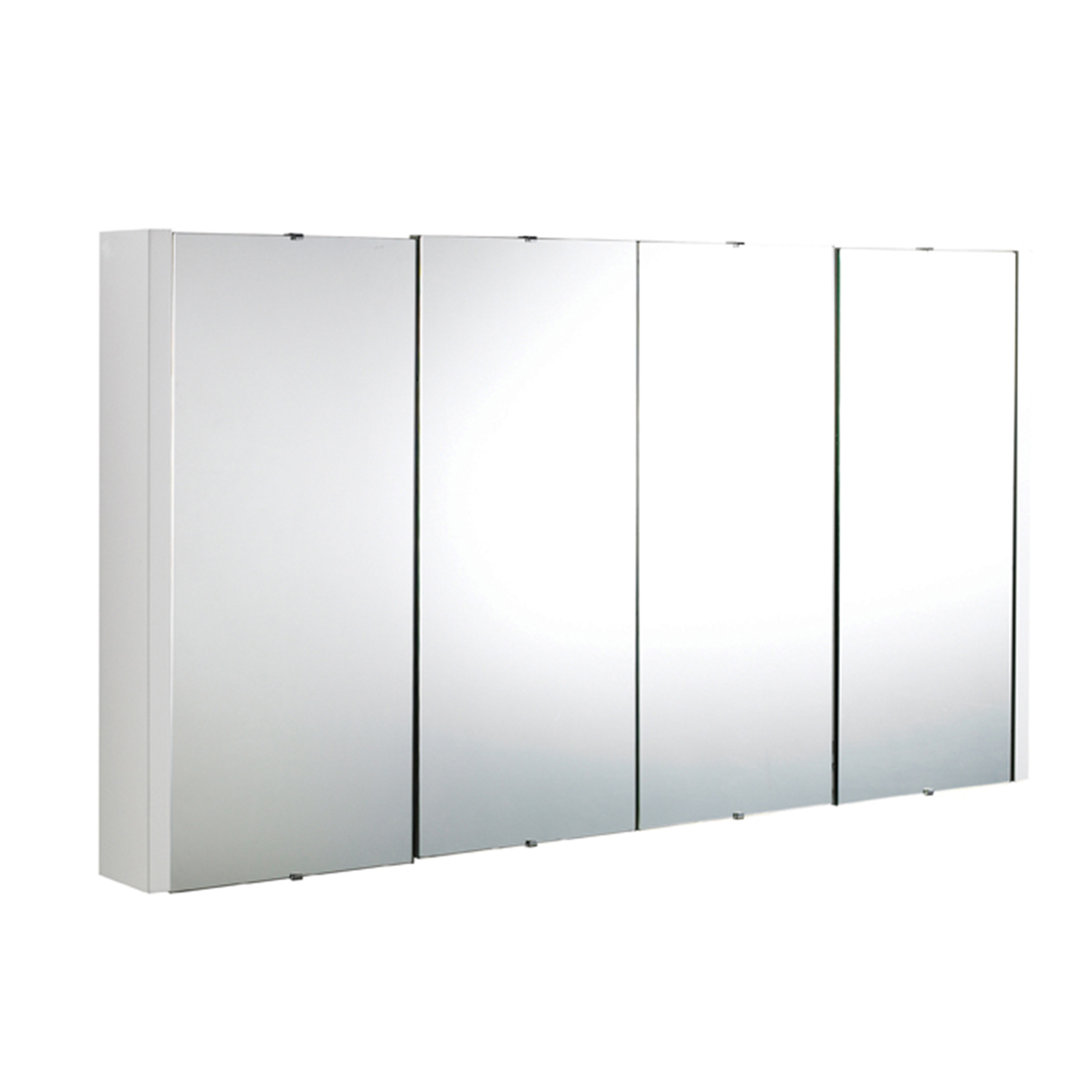 details about lux 1200mm gloss white 4 door mirror bathroom cabinet