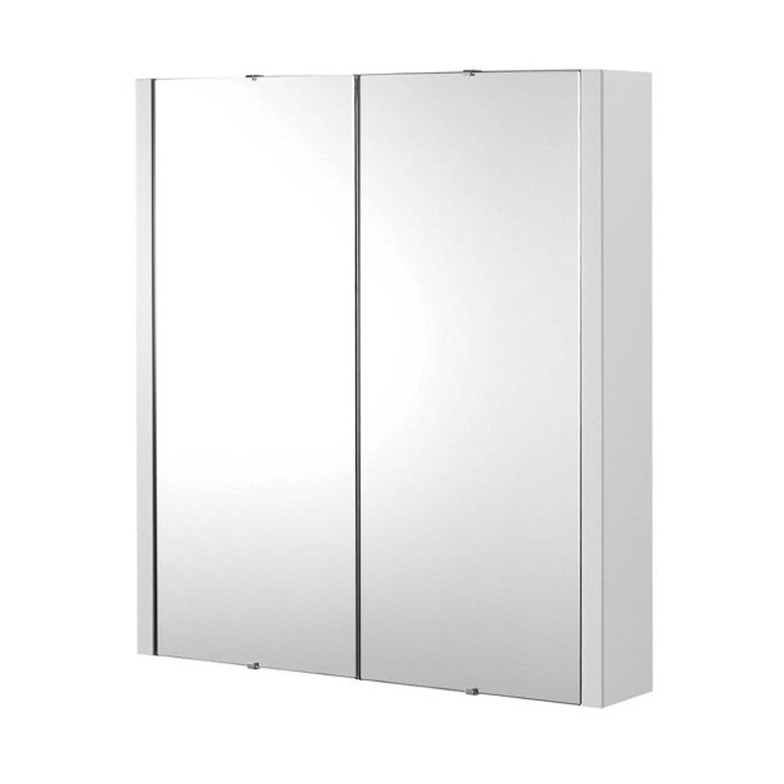 details about lux 600mm gloss white 2 door mirror bathroom cabinet