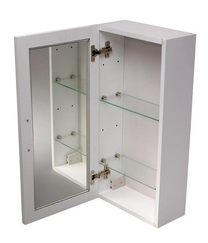 showerdrape malito white wood single mirror cabinet ebay
