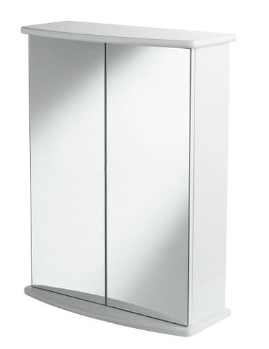 showerdrape rossini white wood double mirror cabinet