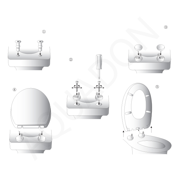 D Shape Luxury Soft Close Top Fix Quick Fast Release Toilet Seat Heavy Duty
