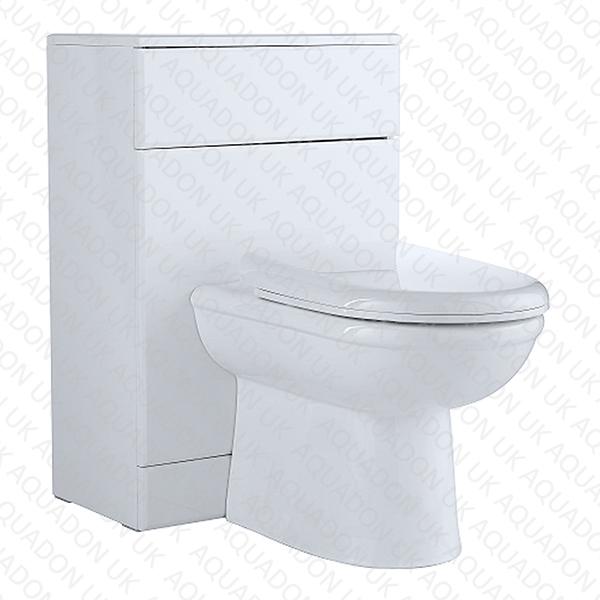 500mm Turin BTW WC Unit D Shape Toilet Cistern Seat EBay