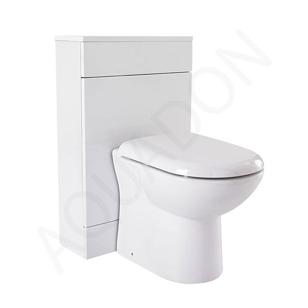 500mm Turin BTW WC Unit Toilet Pan Cistern Standard D Shaped Soft Close