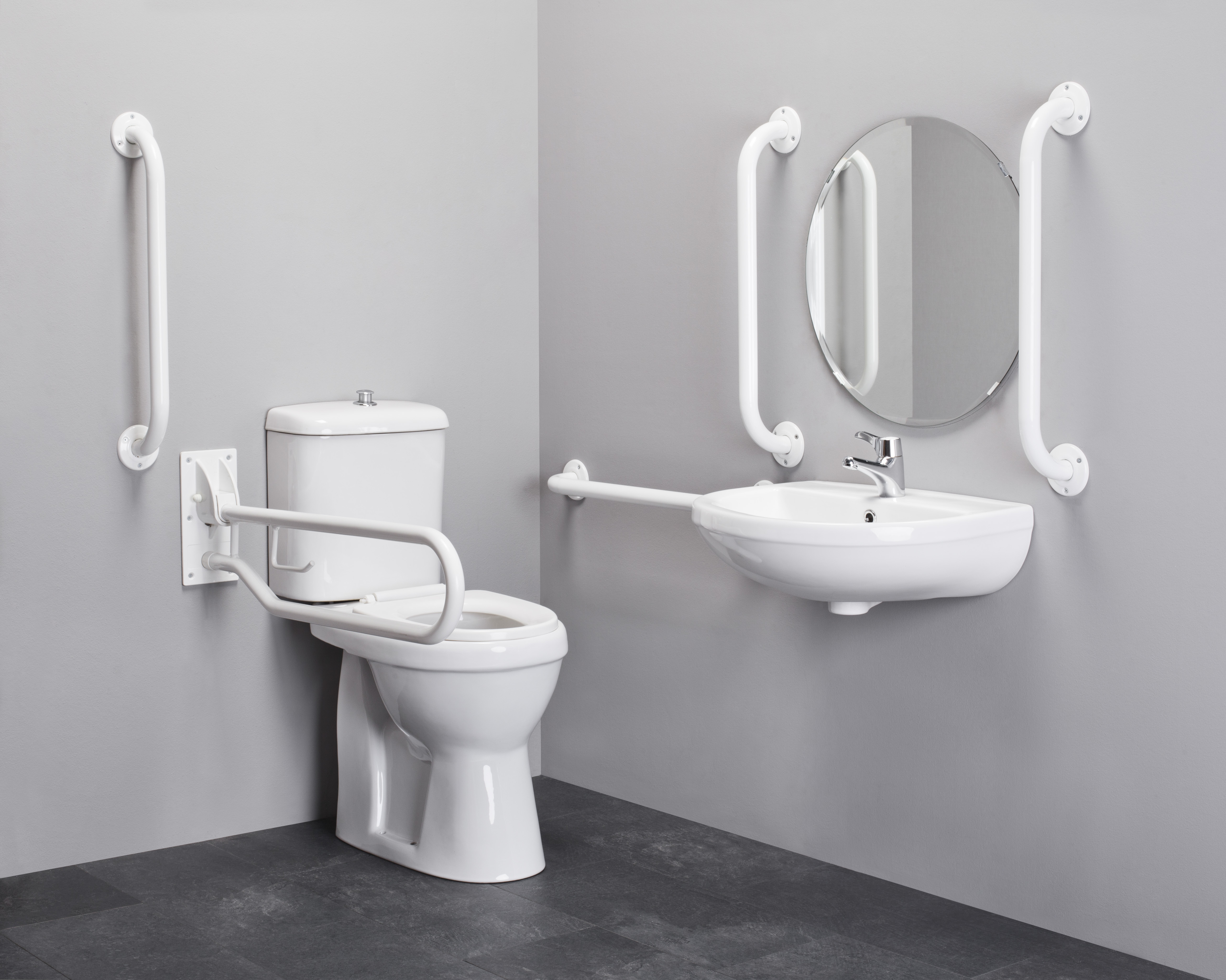 Toilet suite sequential lever tap disability wc basin rails ebay