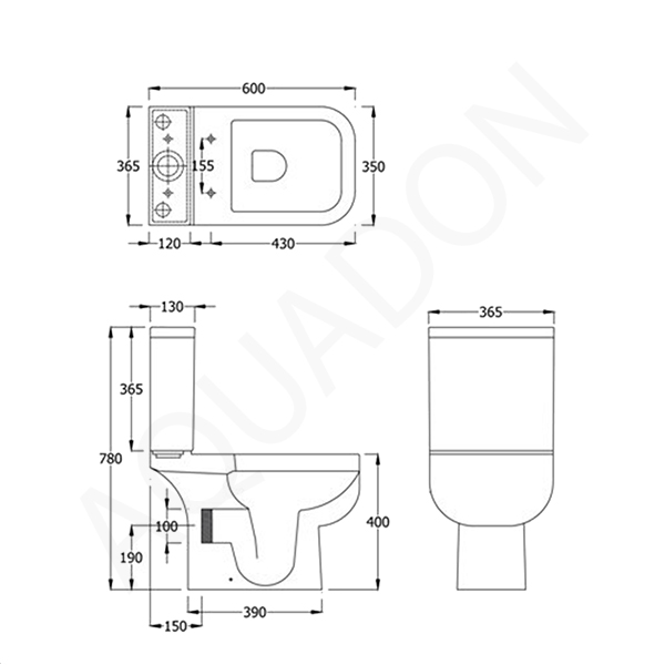 Line Drawing Toilet : Rak series toilet wc including soft close seat short