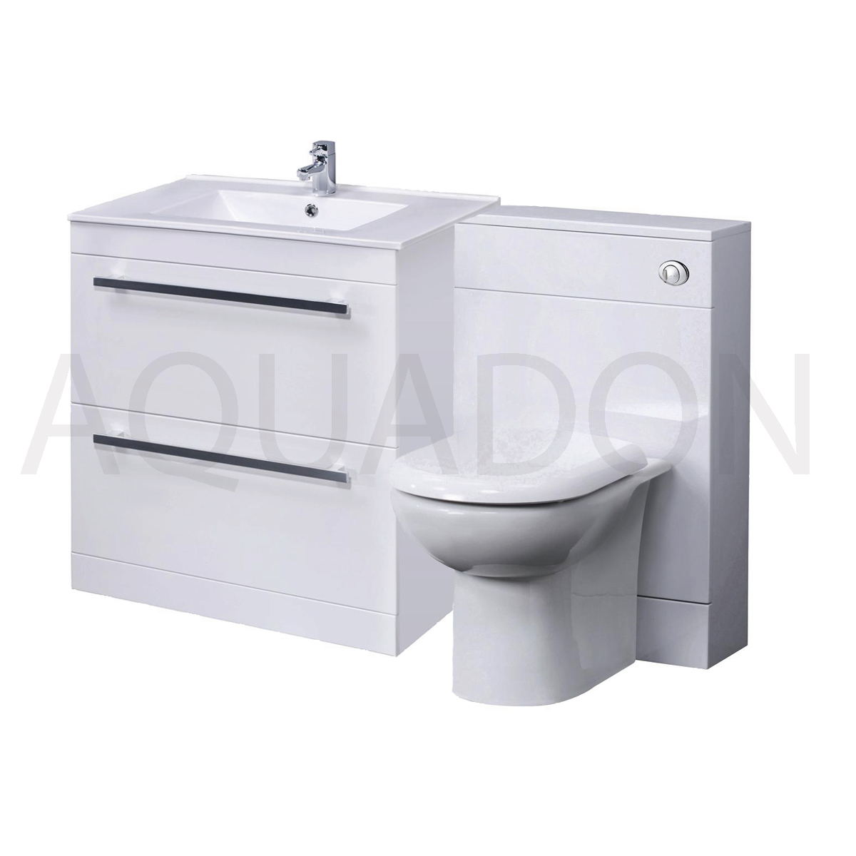 Vanity Unit Btw Linton Toilet Wc Pan Minimalist Basin Drawer Tap Opt 1100mm Ebay