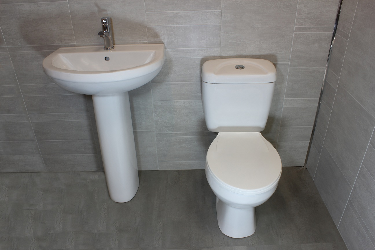 Toilet And Sink : Modern Bathroom Cloakroom 4 Piece Suite WC Toilet Cistern Basin ...