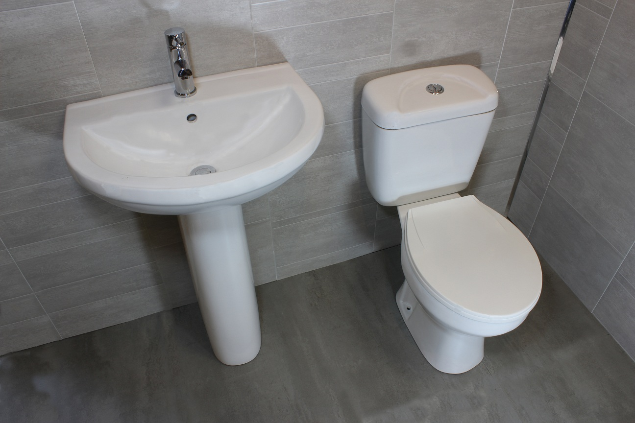 Pedestal Sink And Toilet Combo Befon For
