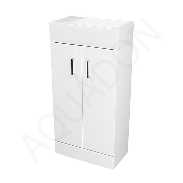 Gloss bathroom cabinet - Details About Bathroom Cloakroom Slimline 450 Vanity Unit Square Basin