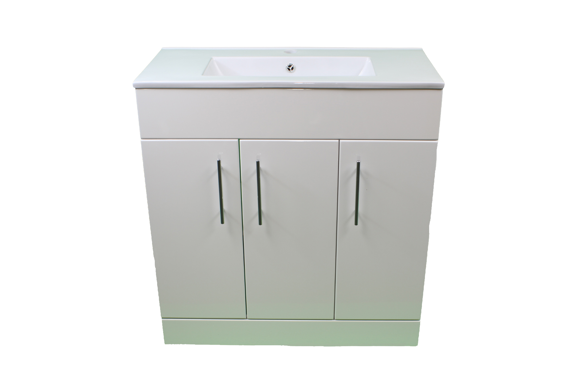Bathroom Cloakroom 800 White Vanity Unit 3 Door Modern