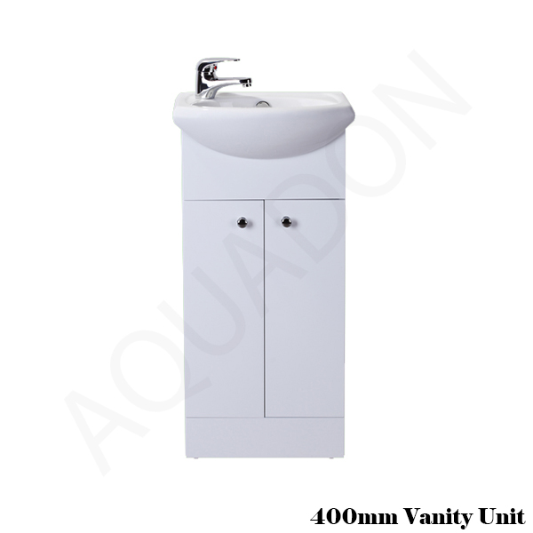 Bathroom cloakroom vanity unit cabinet suite storage for Bathroom cabinets 400mm