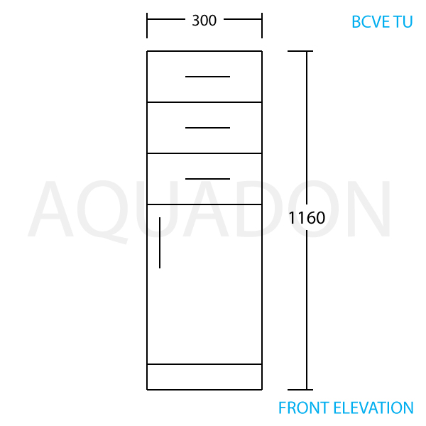 300mm X 320mm Slim Tall Storage Unit Gloss White Drawer Bathroom Cloakroom BCVE