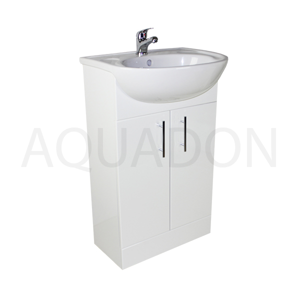 500mm bathroom cloakroom slimline vanity unit compact sink for Bathroom cabinets 500mm wide