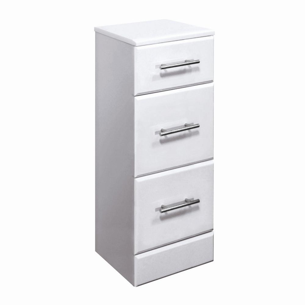White bathroom storage cabinet with drawer white storage for White wooden bathroom drawers