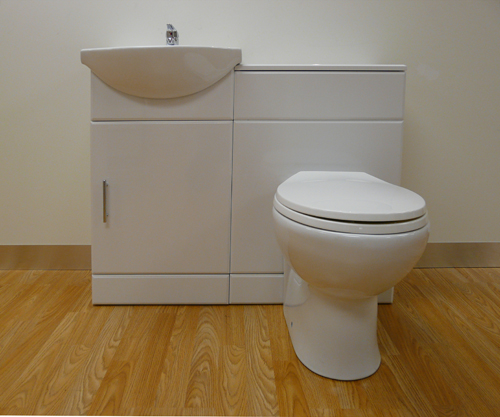 950mm White Gloss Vanity Wc Unit Basin Amp Wc Toilet Tap Waste Bathroom Cloakroom Ebay