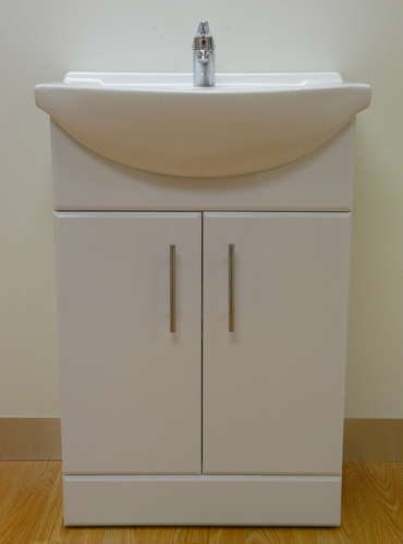 Ikon Classic Gloss White 550mm Vanity Unit with Basin and Mixer Tap1