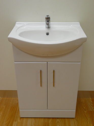 Ikon Classic Gloss White 550mm Vanity Unit with Basin and Mixer Tap2
