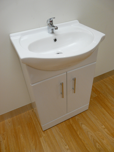 Ebay Bathroom Vanity With Sink: 550mm Bathroom Cloakroom Gloss White Vanity Unit & Basin