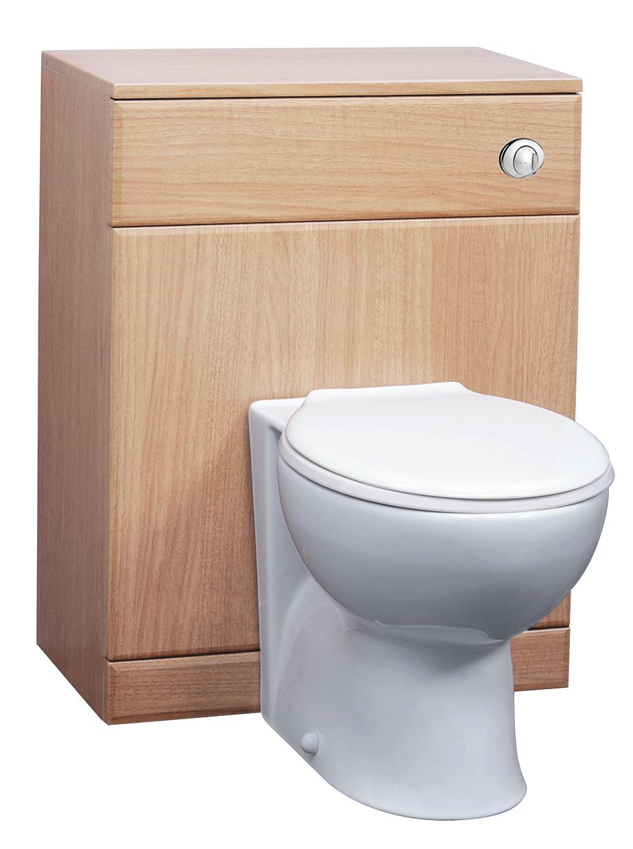 Beech Vanity Bathroom Cloakroom 550 Unit Btw Toilet Pan